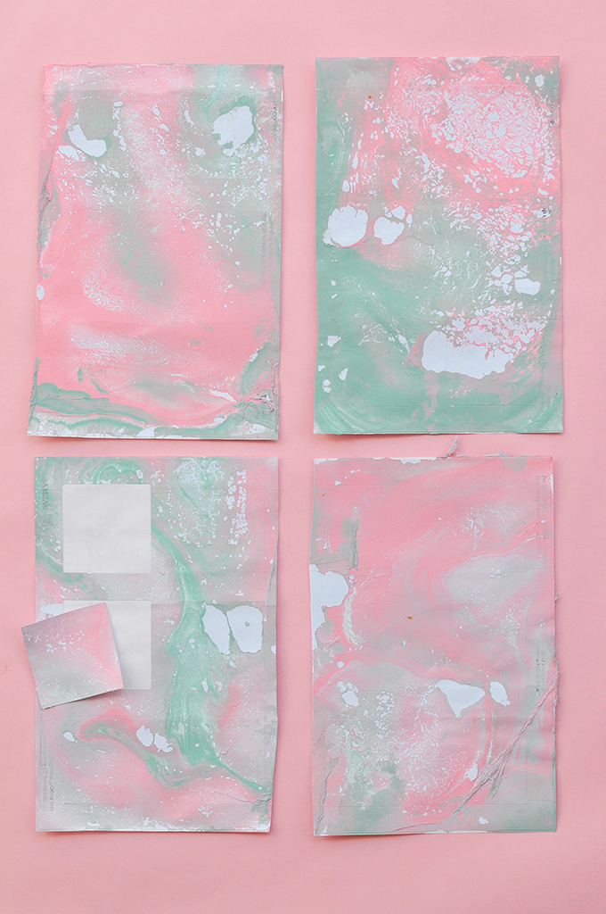 diy marbled paper