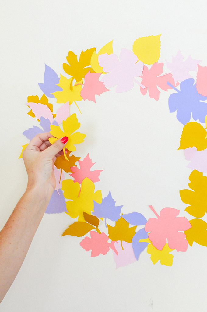 DIY Paper Leaf Wreath