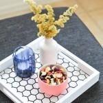 Mini Makeover \\ DIY Hexagon Tile Tray