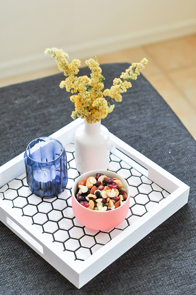 DIY Hexagon Tile Tray by @theproperblog