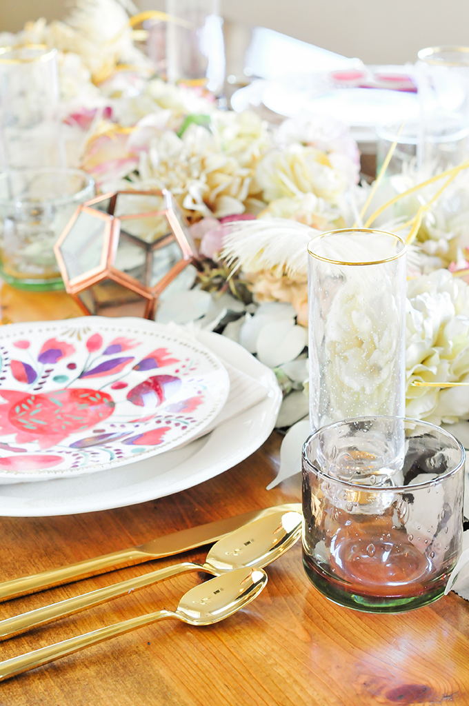 diy faux floral table runner for thanksgiving proper rh theproperblog com