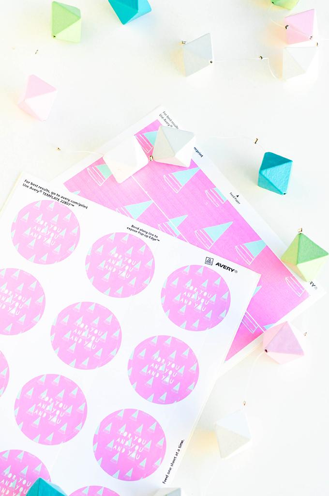 Mod Tree Printable Treat Labels by @theproperblog