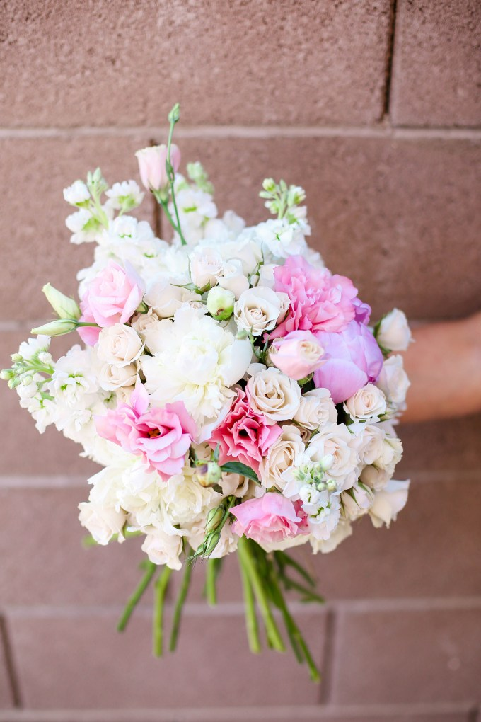 DIY floral arranging by @theproperblog for Nicole's Classes