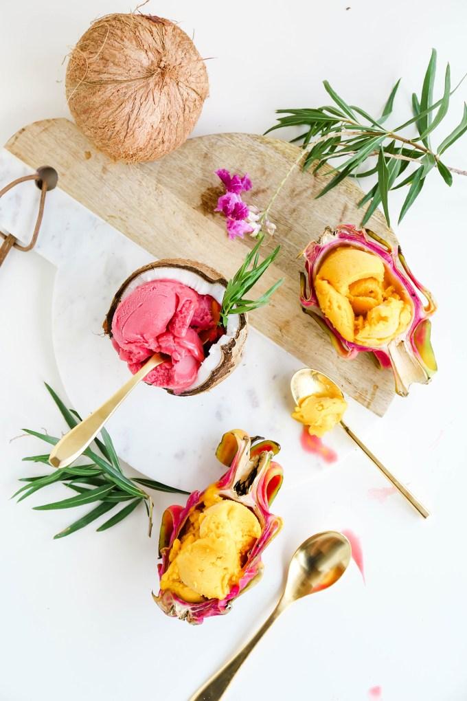 Assorted Fruit Sorbet Bowls    www.theproperblog.com
