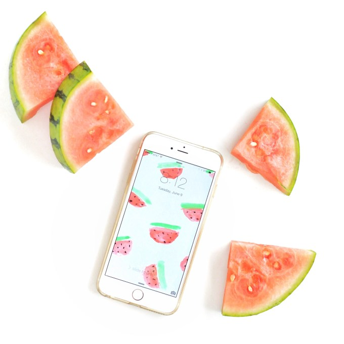 Watermelon Wallpaper Download via @theproperblog