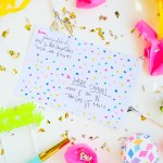 #ProperPrintables \\ Colorful Party Shipping Label Printable