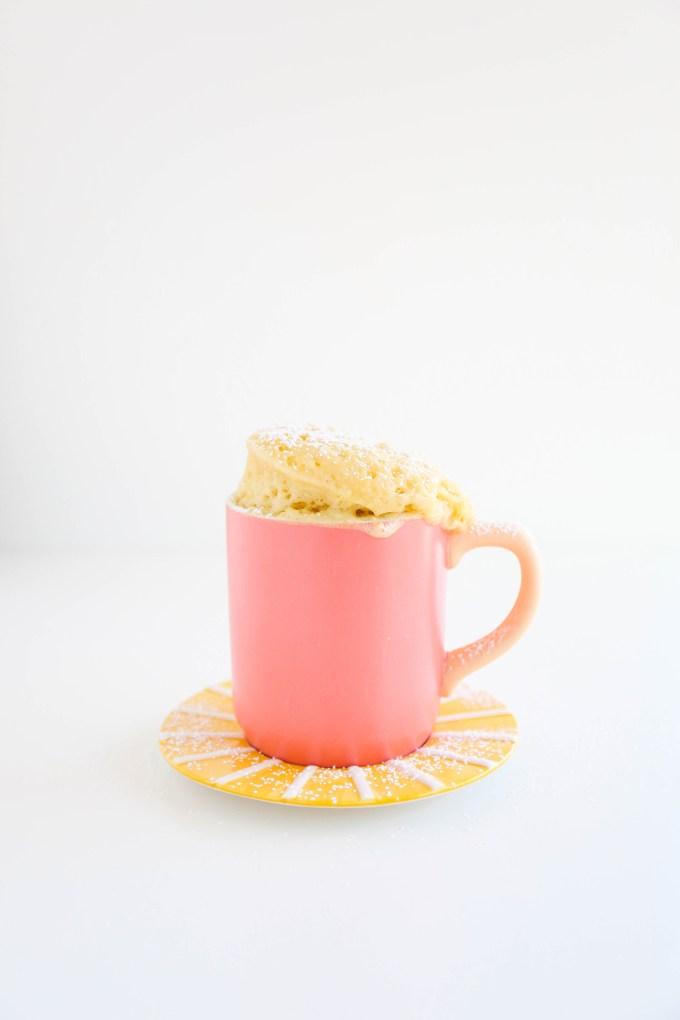 Lemon Olive Oil Mug Cake || www.theproperblog.com