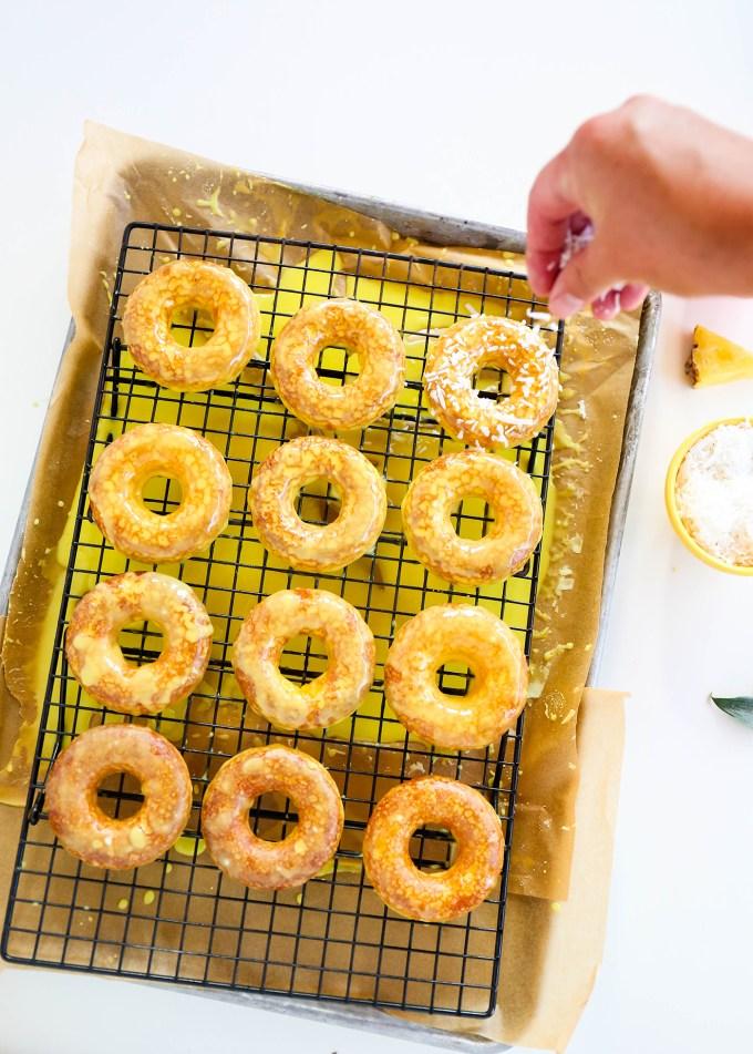 Baked Pineapple Donuts Recipe || @theproperblog
