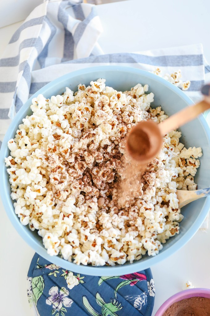 Dusted Chocolate Popcorn (A Skinny Pop Hack!)