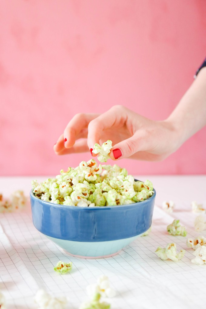 Coconut Matcha Popcorn recipe