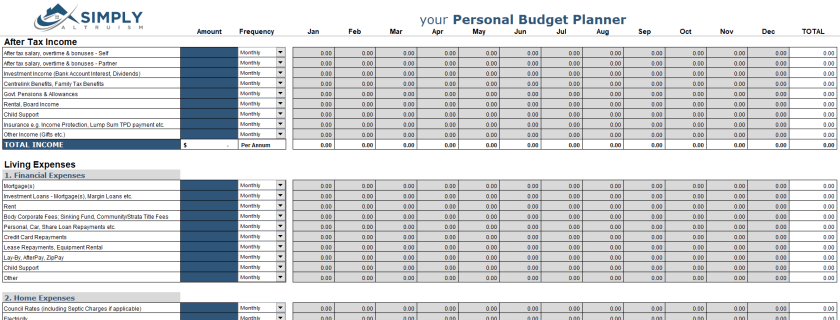Simply Altruism Budget Planner_Personal Budgeting Part1 – How to create a budget and track your spending
