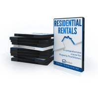 DVD cover image - Residential rentals: A comprehensive course for estate agents