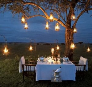 An intimate meal for two would include foods you loved on your trips