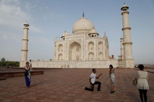 Straight away down on one knee outside this cultural landmark!