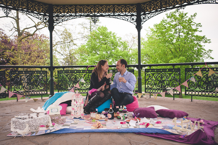Here's an Alice in Wonderland picnic The Proposers created in Hampstead Heath, London