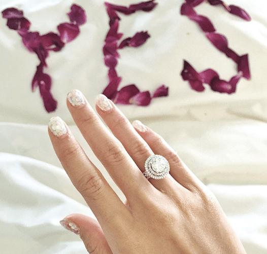 With proposals come rose petals
