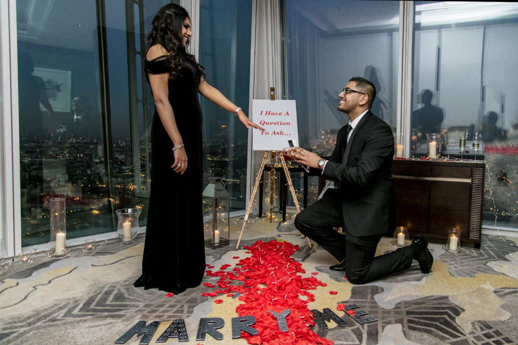 Marriage Proposal at The Shard by The Proposers