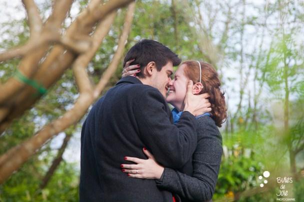 Marriage proposal in Monet's Garden