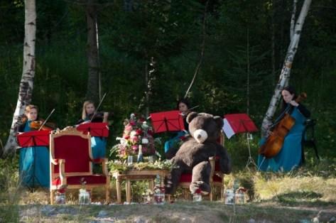 Romantic Teddy Bear picnic in summer