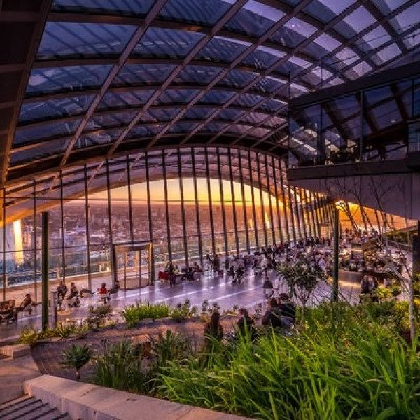 Sky Garden with sunset