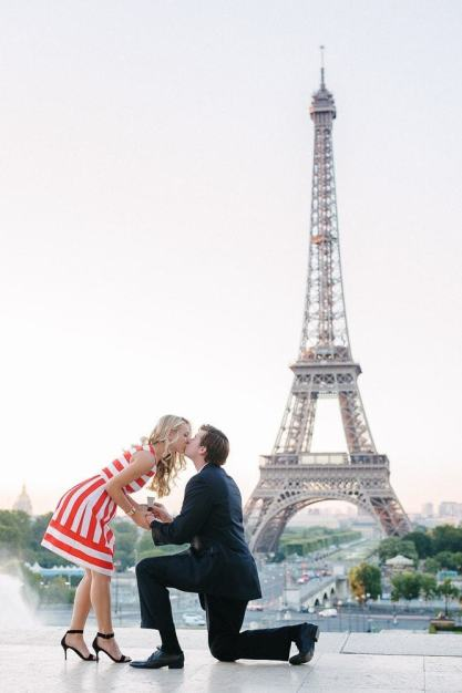 proposing in paris by the trocadero the best view over the eiffel tower