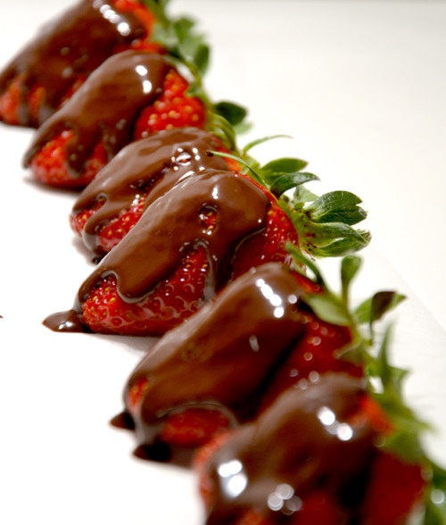 Or, keep it simple with some delicious fruit - smothered in chocolate of course!