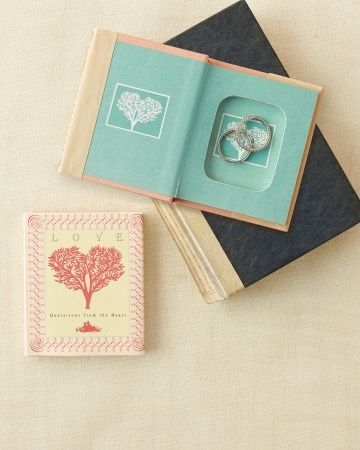 A book lovers ring box