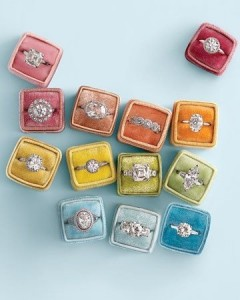 The ring should be presented in a brightly coloured box