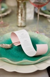 We would create a personalised menu for your other half on a sea like scroll...or you could write the reasons you love her for her to find...