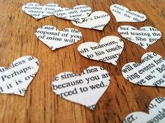 Literary love confetti