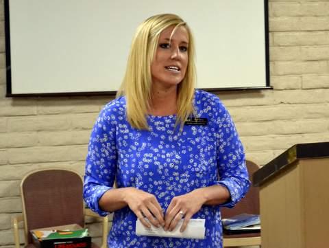 Laurie Larrick, Newest Lamar Rotarian