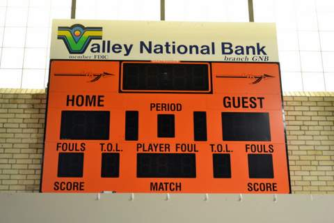 Scoreboard at Lamar Community Building
