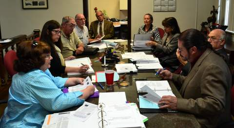 Tribute Board Meets with County Commissioners