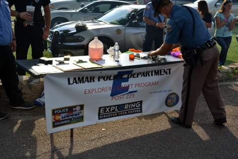 Law Enforcement Display Table