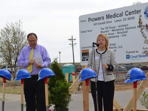 Craig Loveless and Julie Branes at 2015 Groundbreaking