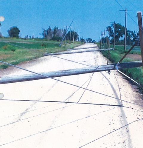Storm Damage to Power Poles