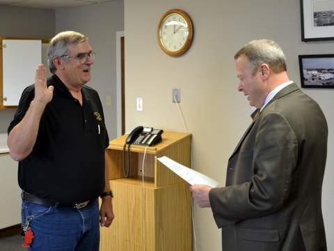 Boxley, Sworn in by Judge Stan Brinkley