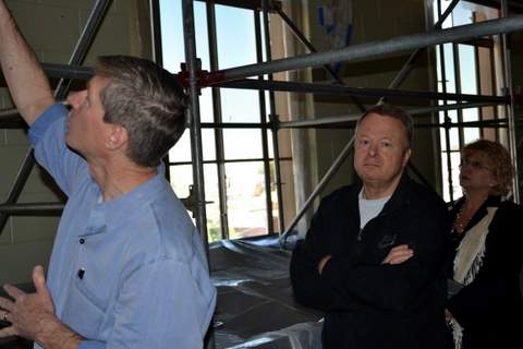 Judge Stan Brinkley Observes Work in Progress