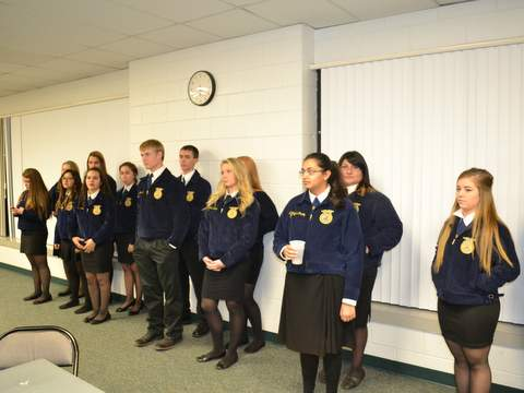 FFA Students Briefed on Mealtime Procedures
