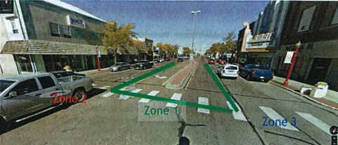 View of Zones to be Set for Construction on Main Street
