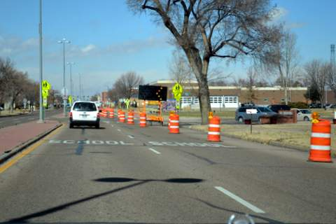 Construction Project Between Park and Oak Streets