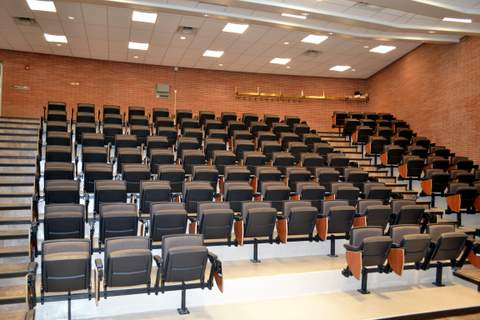 Large Lecture Hall View from Bottom to Top