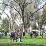 Spring Sun Graces Arbor Day Tree Planting