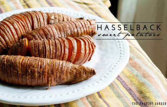 Want a new way to roast sweet potatoes? Try Hasselback Sweet Potatoes with Cinnamon and Brown Sugar. It's the flavor of sweet potato pie w/out all the work!