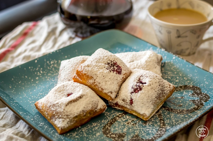 Blueberry Jam Filled Beignets