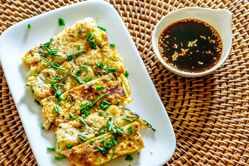 Korean Seafood and Scallion Pancake (Haemul Pajeon)