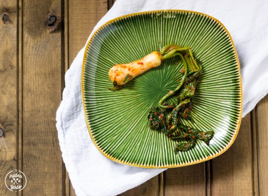 Chonggak or Ponytail Radish Kimchi is a popular meal accompaniment in Korean. Learn how to make this popular kimchi and how to grow Altari radishes.