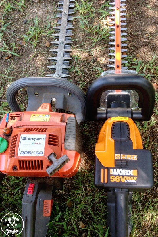 """Looking for a lightweight hedge trimmer? Check out our review of the Worx 56V MaxLithium Cordless 24"""" Hedge Trimmer Vs. gas powered hedge trimmers."""