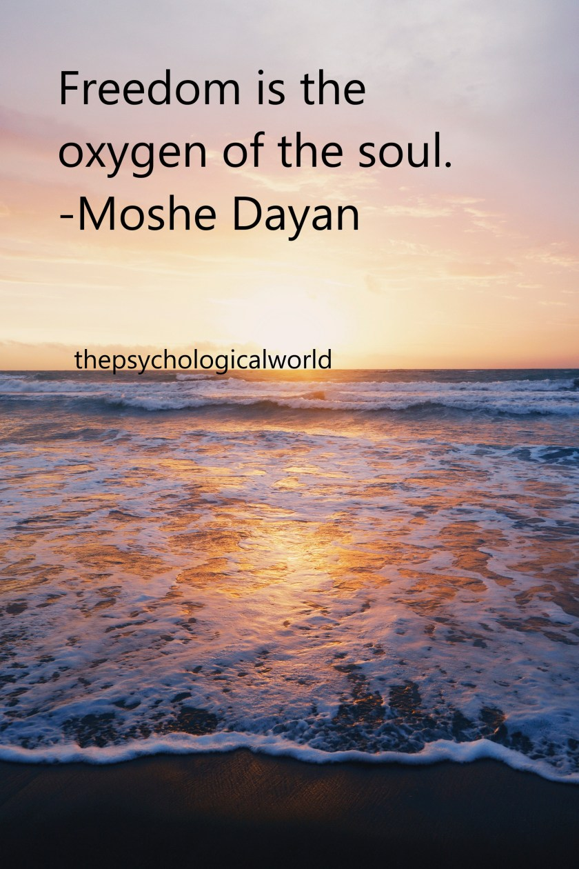 freedom is the oxygen to the soul