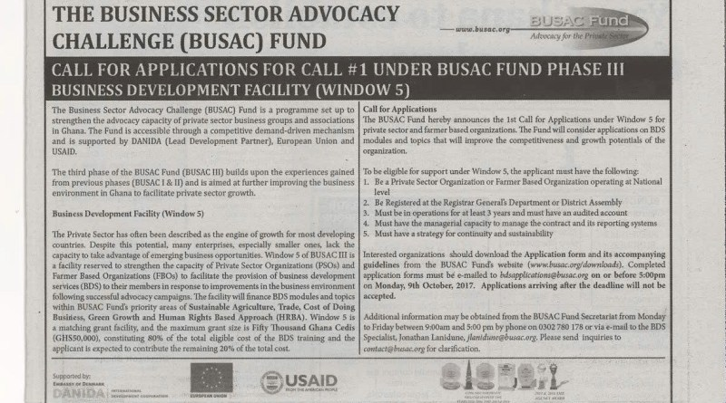 Business Sector Advocacy Challenge